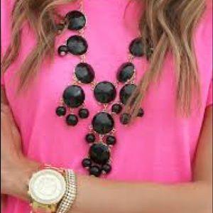 J.crew black bubble necklace